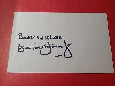 David Fairclough Supersub Liverpool fc Genuine Signed white index card