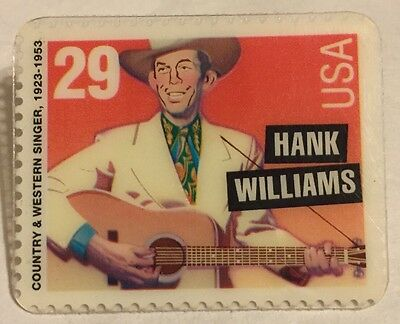Hank Williams Country Western Singer Stamp Pin 29 USA