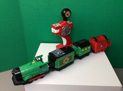 Fisher Price GeoTrax Christmas in ToyTown RC Holiday Train & Remote Control