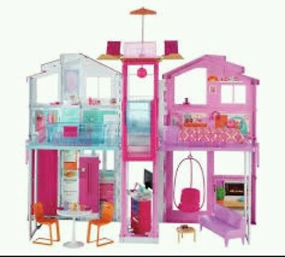Barbie 3 Storey Townhouse Mansion Deluxe New!!! £99