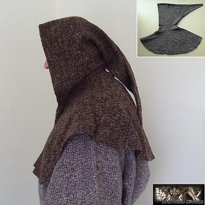 A Deluxe Medieval Brown Hood - Perfect For Re-enactment Stage or LARP