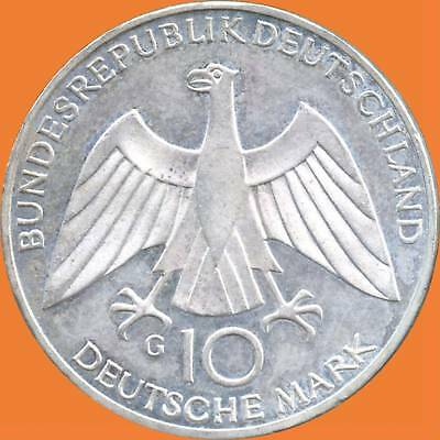 1972 'G' Germany 10 Mark Olympic Silver Coin ( 15.5 Grams .625 Silver )