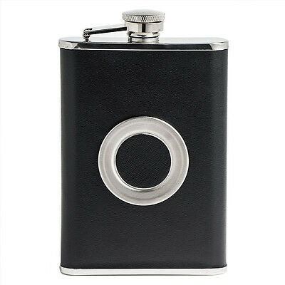 TeleScope GLASS Wraped With Leather Wine Pot Hip Flask Wine Bottle Flagon