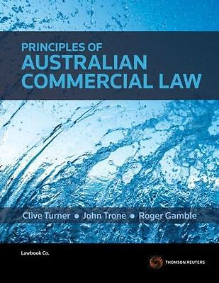 NEW Principles of Australian Commercial Law By Roger Gamble Paperback
