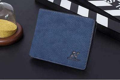 Men Leather ID credit Card holder Clutch Coin Purse Bifold Wallet Billfold Bag 3