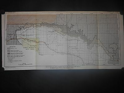 New Mexico Gallup San Mateo Resevations Coal Field Fort Wingate 1909 Map