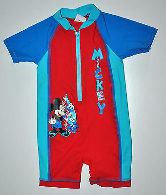Disney Baby Boy Sunsuit Swimsuit Swimming Costume 12-18 Months Holiday Mickey