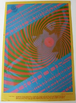 Family Dog Original 1967 Poster #57 The Doors Steve Miller Band Vg+ Moscoso