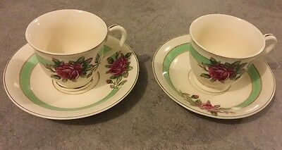 2 X Vintage Petite Cups And Saucers