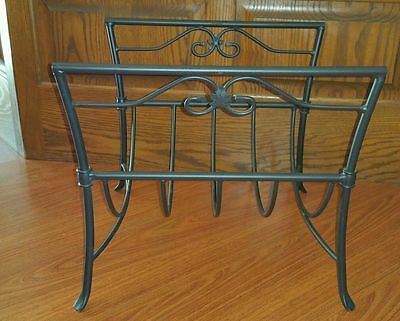 Longaberger Foundry Coll Wrought Iron Fireplace Wood Rack/Holder/Stand~RARE!!!!