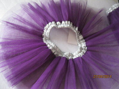 Tutu, half Purple and Silver, size 2-3yrs