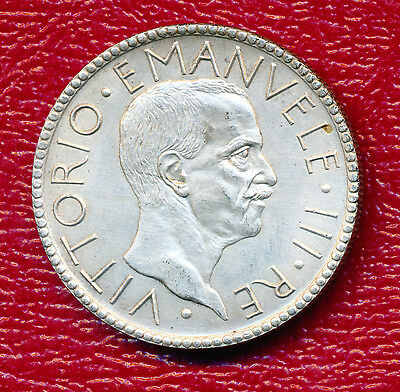 1927-R Italy Silver 20 Lire **about Uncirculated** Nice Coin!
