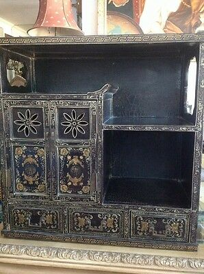 Antique Chinese Painted Wood Cabinet