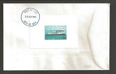 1971 UK Great Britain Boy Scouts Calf of Man ship SS Europa local FDC