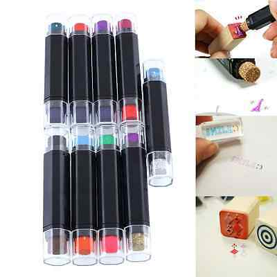 Craft DIY Cute Cartoon Plastic Double Color Ink Pad Inkpad For Paper For Stamps