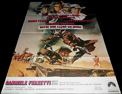 1968 Once Upon a Time in the West ORIGINAL SPAIN 69' POSTER Sergio Leone