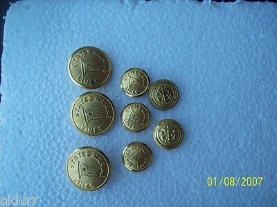 Buttons N.s. Savannah/states Marine Lines Officers Uniform