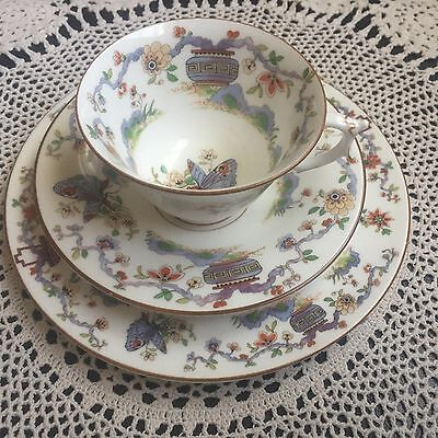 Royal Worcester Oriental Trio Cup Saucer Plate