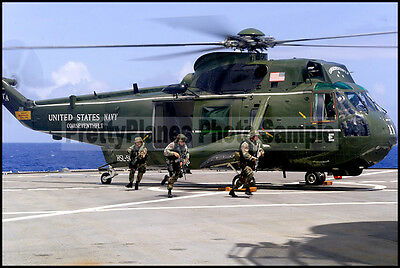 USN UH-3 Sea King HSL-51 USS Blue Ridge 2003 8x12 Aircraft Plane Photos