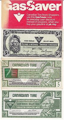 10 Piece Set Of Canadian Tire Money