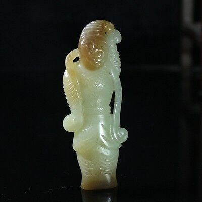 Exquisite Chinese natural hetian jade hand-carved pendants