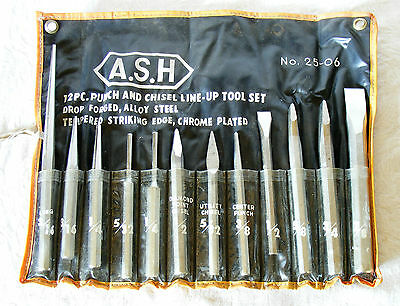 Asahi Ash punch & chiselset good quality as new condition