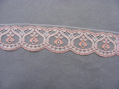 Flat Lace Two-Tone White/Peach x 20 meters