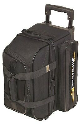 Storm 2 Ball Roller Bowling Bag with Wheels Color Black