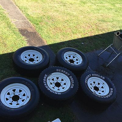 Sunraysia wheels and tyres, 15 x 7, 6 stud,  Rodeo, Hilux,  4wd, off road
