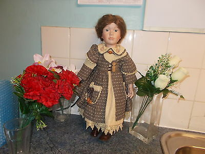 Hilary 20Inch Kb Collection Porcelain Doll.