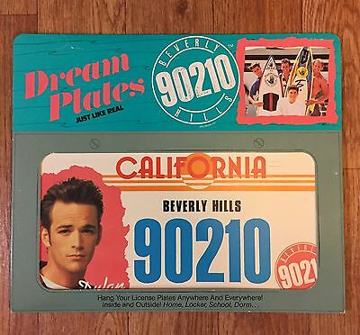 Vintage Beverly Hills 90210 Dream License Plate Luke Perry TV Show Dylan McKay