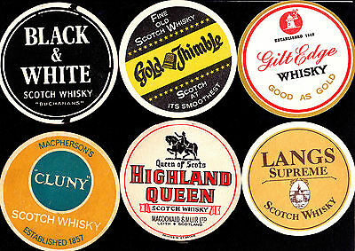 Collectable whiskey coasters -  Set of 6 assorted Whiskey coasters3