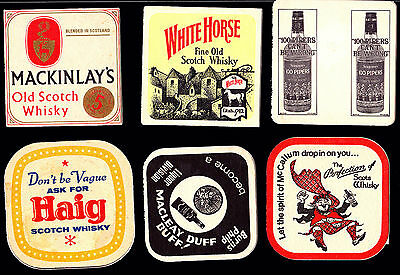 Collectable whiskey coasters -  Set of 6 assorted Whiskey coasters2
