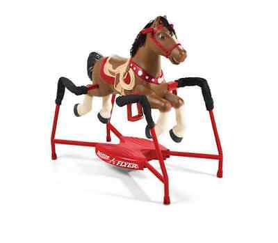 Radio Flyer Horse Rocking Kids Ride on Toy Cowboy Cowgirl Spring Bouncer Sounds