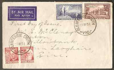 RARE VICTORIA POSTMARK ON COVER: GLENFERRIE SOUTH (rated R)