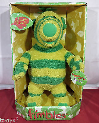 Fisher Price Fimbles 'FIMBO' Green & Yellow Striped Soft Toy 89421 | NEW IN BOX