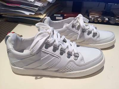 Authentic Kenzo K-Fly white leather sneakers Aus 5, US 4, UK 1,Europe 35
