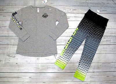 Justice Girls Size 8 Long Sleeve Athletic  Top Nwt Sz 8 Matching Leggings Nwt