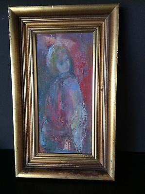 """vintage oil painting """"the grey shawl"""" by Joyce Thompson"""