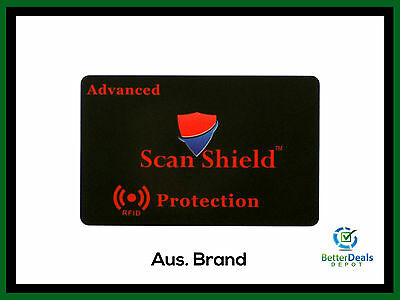 Scan Shield Advanced Protection RFID Blocking Card for Wallet ***Brand New***
