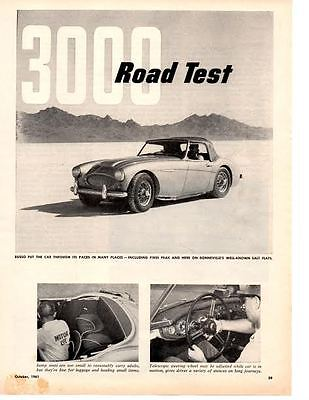 1962 Austin-Healey 3000 ~ Original Road 4-Page Test / Article / Ad