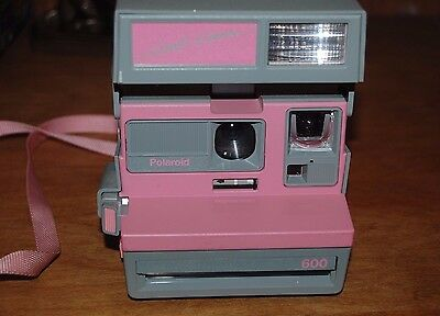 Vintage Polaroid Cool Cam 600 Instant Camera Gray Pink Camera Untested