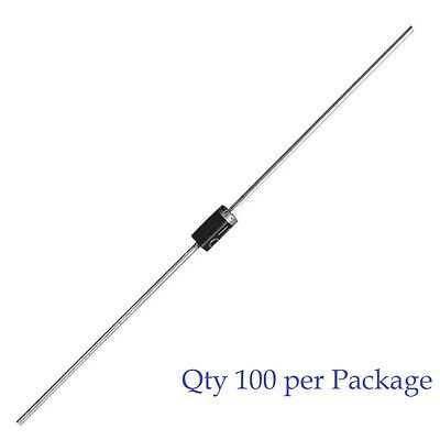 1N4002 - 1A 100V Rectifier Diode - MIC Brand - 100pcs (100 Pieces)