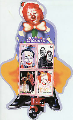 Palm Island Grenadines St Vincent 2003 MNH Circus Clowns 4v MS Pitchutito Stamps