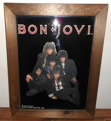 Bon Jovi Rare Framed Picture-Print From 1986 - Runaway - Wanted Dead or Alive