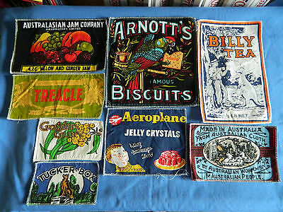 8x Australian Theme Cloth Patches for Quilts Clothing etc