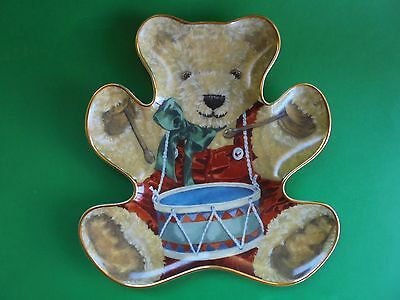 Little Drummer Bear Plate With Stand Franklin Mint Limited Edition