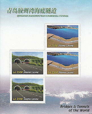 Sierra Leone 2011 MNH Bridges & Tunnels of World 4v M/S Qingdao Stamps