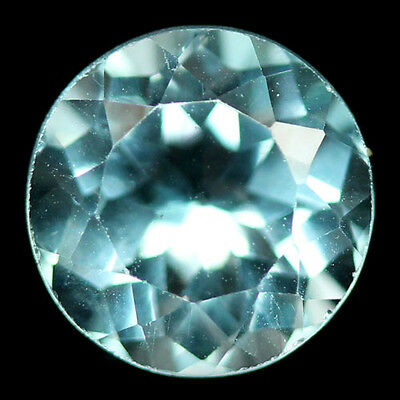 2.30 ct AAA  NATURAL! SKY BLUE BRAZIL TOPAZ  8.0 mm ROUND