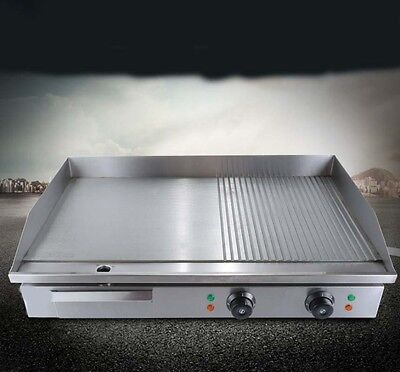 Commercial Teppanyaki 4400W Grill Hot Plate BBQ Stainless Steel Electric Grill *